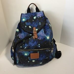 VS PINK blue and black galaxy backpack